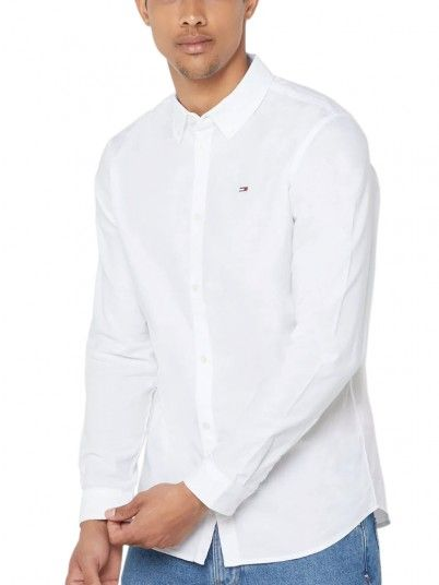 Shirt Man Oxford White Tommy Jeans