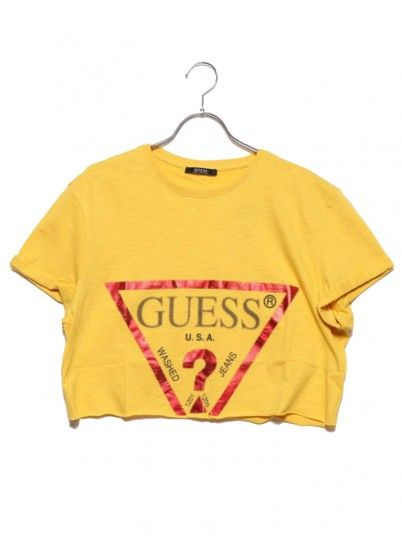 T-SHIRT MULHER CROPPED GUESS