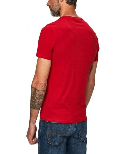 T-Shirt Man Red Guess