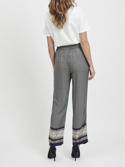 Pants Woman Navy Blue Vila