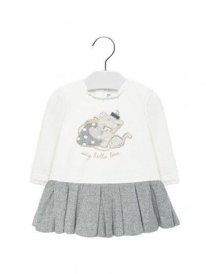 Vestido combinado bebé menina  Mayoral