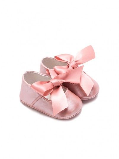 Sapatos laçada nacar bebé menina Mayoral