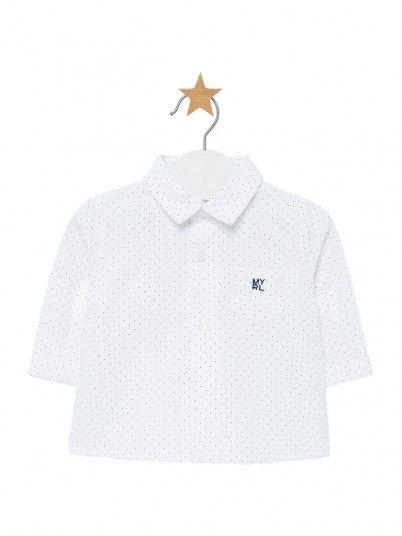 Camisa manga comprida bebé menino Mayoral