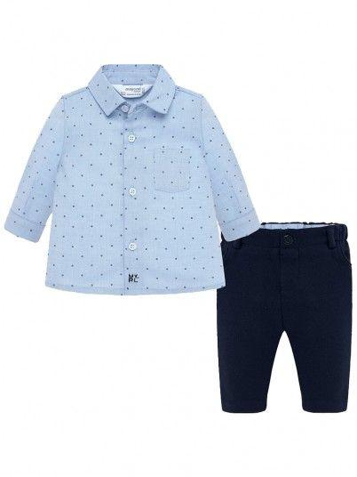 Conjunto calças e camisa bebé menino Mayoral