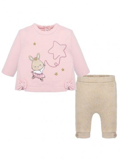 Conjunto leggings desenhos bebé recém nascida Mayoral