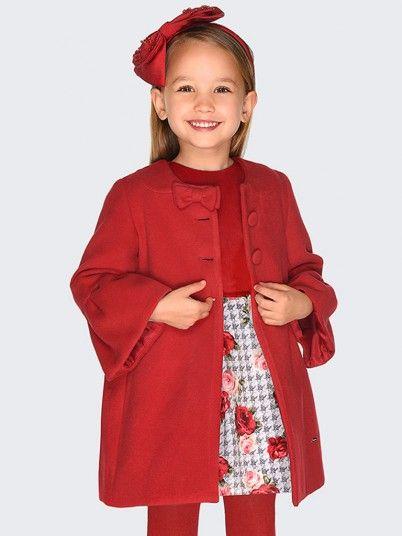 Vestido veludo estampado menina Mayoral
