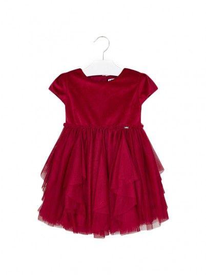 Vestido combinado tule menina Mayoral