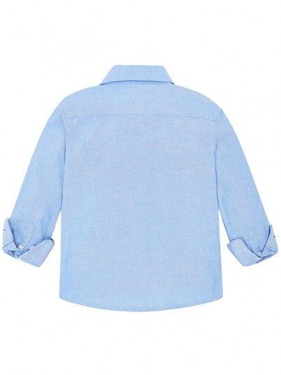 Camisa manga comprida oxford básica menino Mayoral
