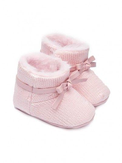 Botas tricotadas bebé recém nascida Mayoral