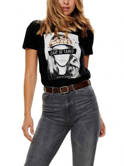 T-Shirt Woman Jonna Black Only