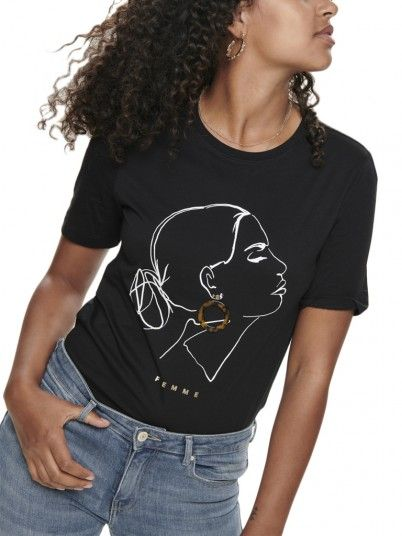 T-Shirt Donna Nero Only