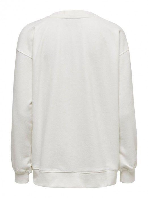 Sweatshirt Woman White Only