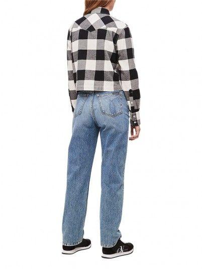 Camisas Mujer Ajedrez Calvin Klein J20J212123