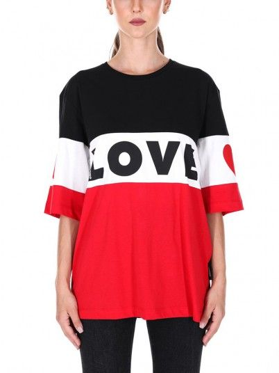 T-Shirt Woman Black Love Moschino