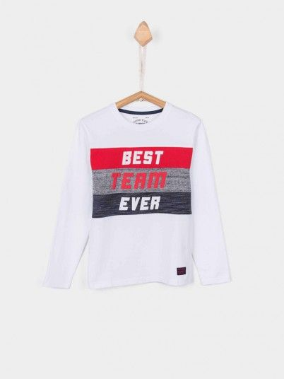 Sweatshirt Boy White Tiffosi Kids