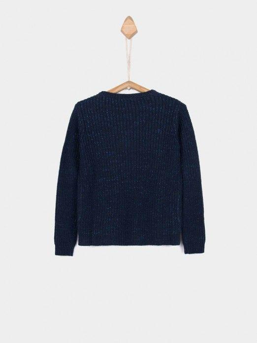 Knitwear Girl Navy Blue Tiffosi Kids