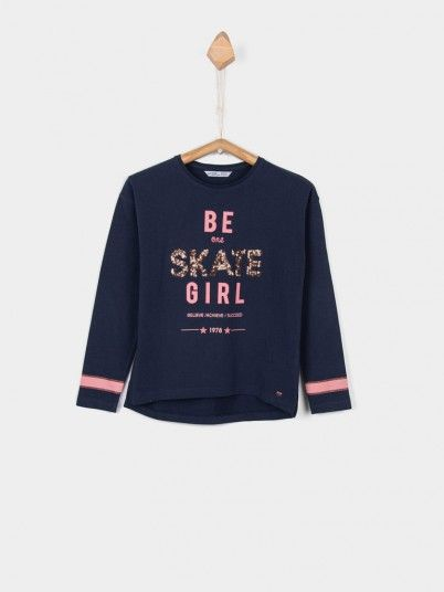 Sweatshirt Niña Azul Marino Tiffosi Kids