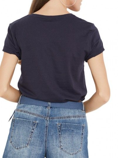 T-Shirt Donna Blu Scuro Only