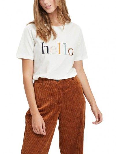 T-SHIRT MULHER HELLO VILA