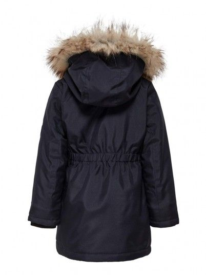 Cappotto Ragazza Blu Navy Only