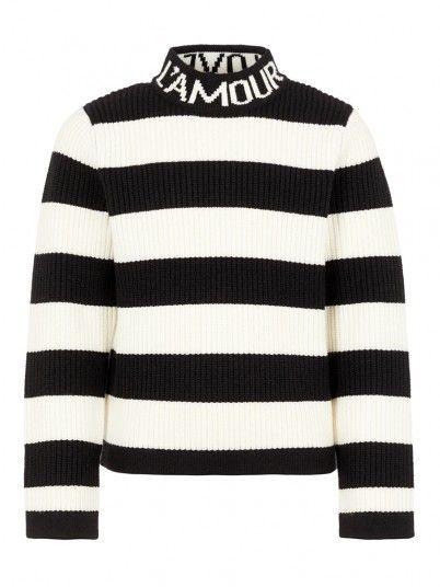 Knitwear Girl Black Stripe Name It
