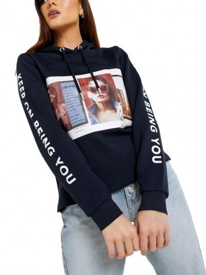 SWEATSHIRT MULHER CLEAR ONLY