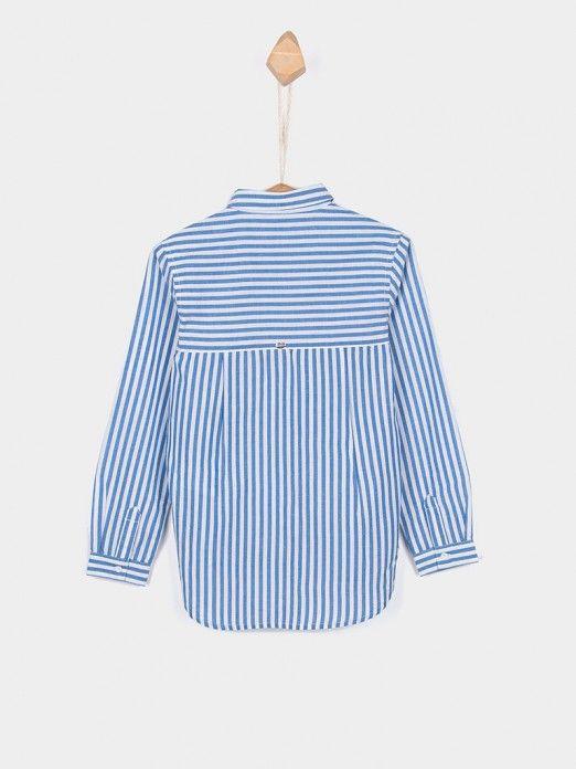 Shirt Girl Blue Stripe Tiffosi Kids