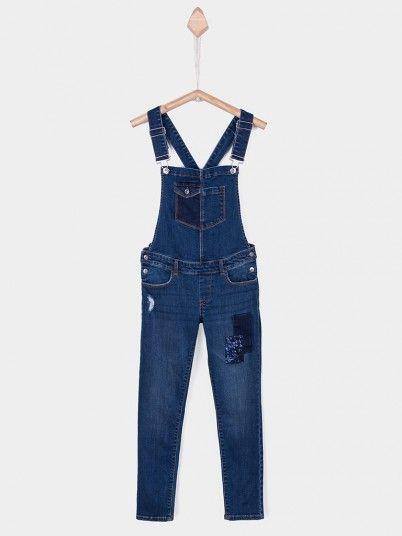 Overall Girl Dark Jeans Tiffosi Kids