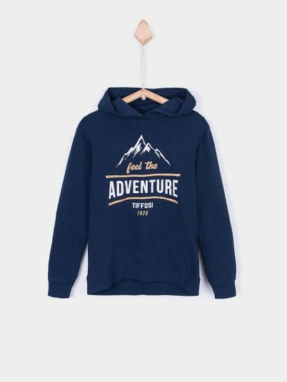 Sweatshirt Boy Navy Blue Tiffosi Kids 10026361