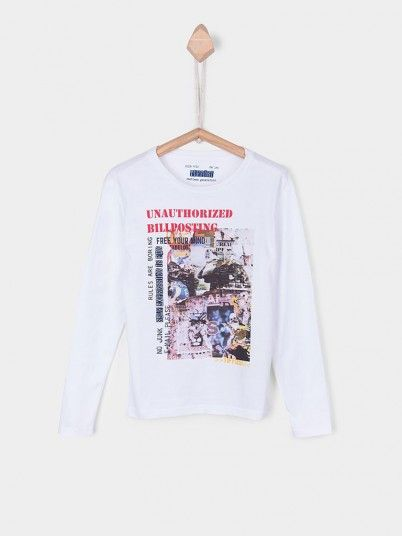 Sweatshirt Boy White Tiffosi Kids 10026364