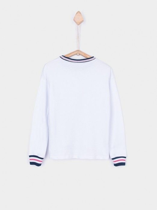 Sweatshirt Girl White Tiffosi Kids