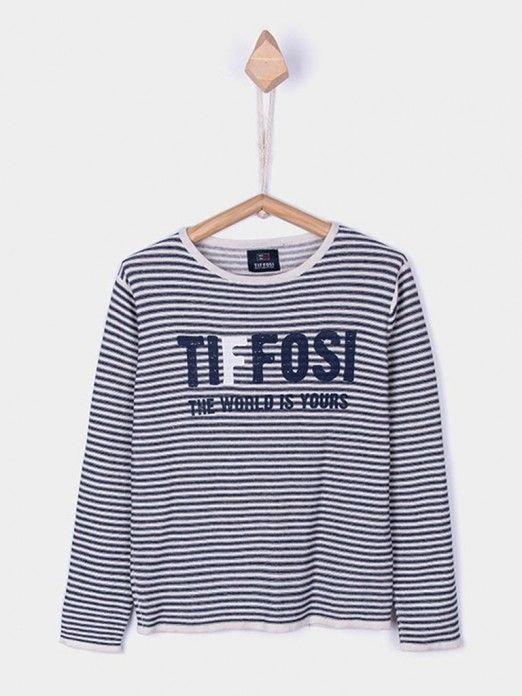 Sweatshirt Boy Navy Blue Tiffosi Kids 10027812