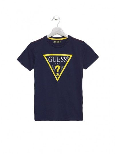 T-Shirt Boy Guess Navy Blue Guess Kids
