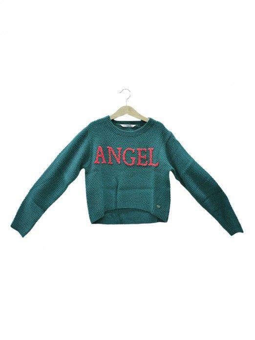 Knitwear Girl Green Tiffosi Kids