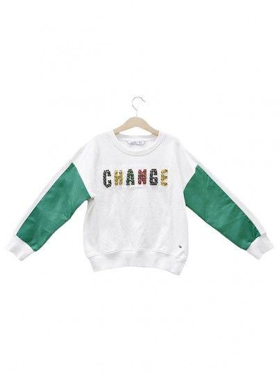 Sweatshirt Girl Cream Tiffosi Kids