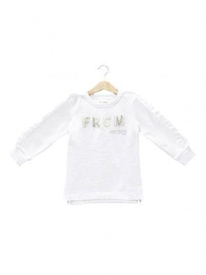 Sweatshirt Niña Blanco Fracomina
