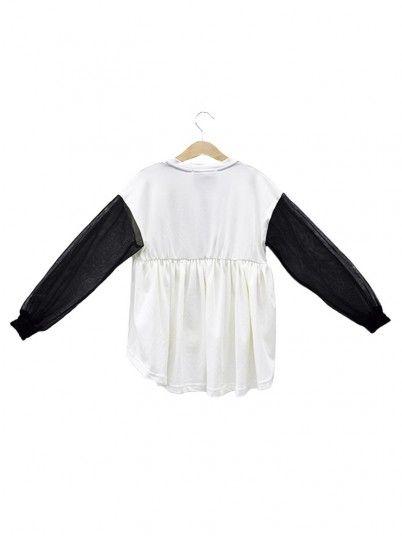 Sweatshirt Niña Crema Fracomina
