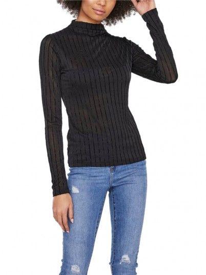Blusa Mujer Dina Negro Vero Moda