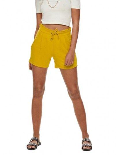 Pantalones Cortos Mujer Mostaza Jacqueline de Yong