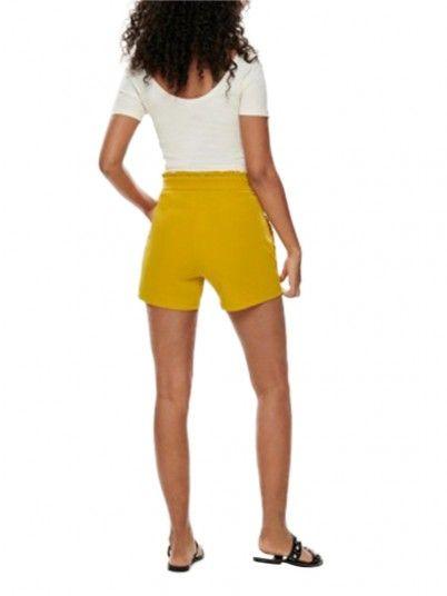 Pantalones Cortos Mujer Cátia Mostaza Jacqueline di Young
