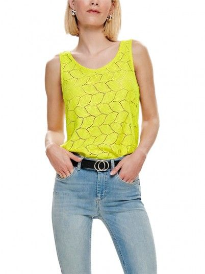 Shirt Woman Tag Green Lemon Jacqueline di Young