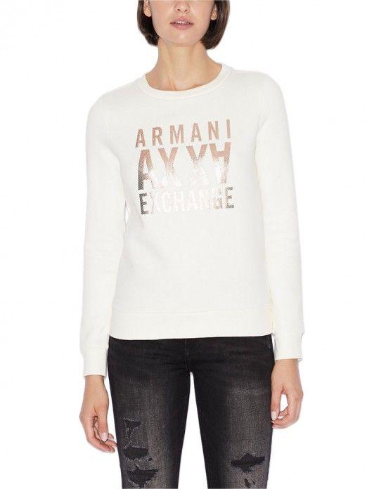 Sweatshirt Woman Cream Armani Exchange