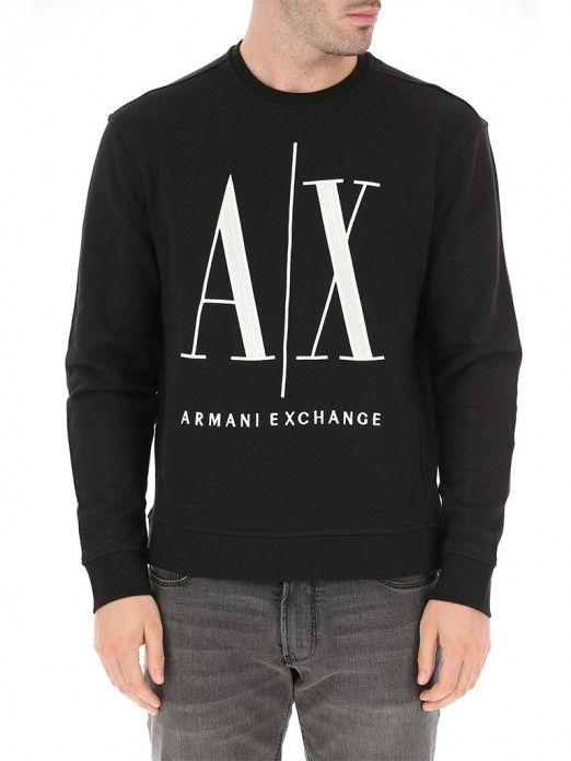 Sweatshirt Man Black Armani Exchange