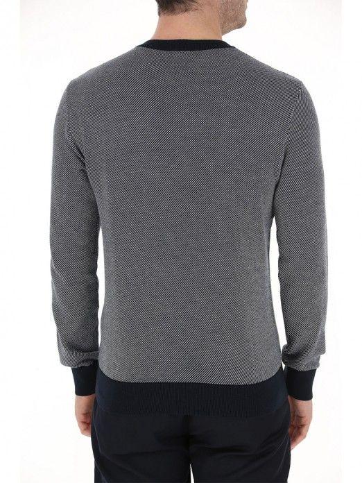 Knitwear Man Navy Blue Armani Exchange