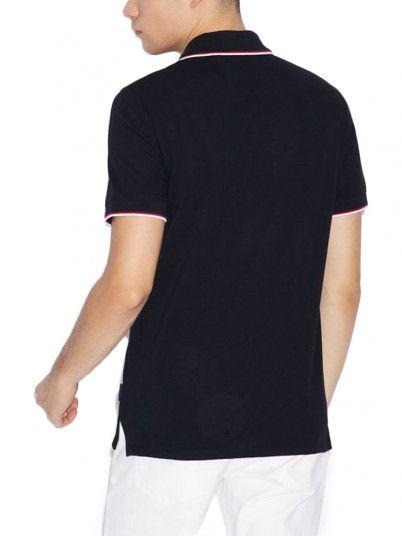 Polo Shirt Man Black Armani Exchange