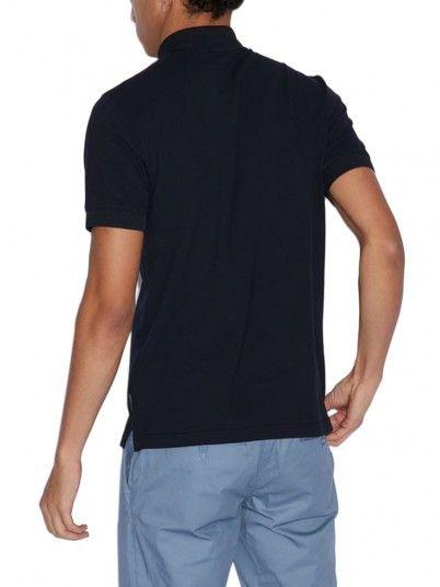 Polo Shirt Man Navy Blue Armani Exchange