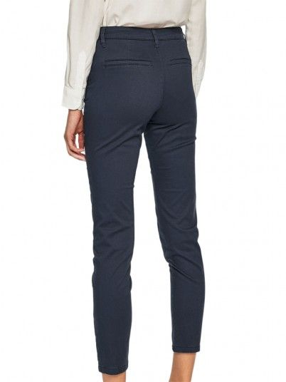 Pants Woman Navy Blue Only