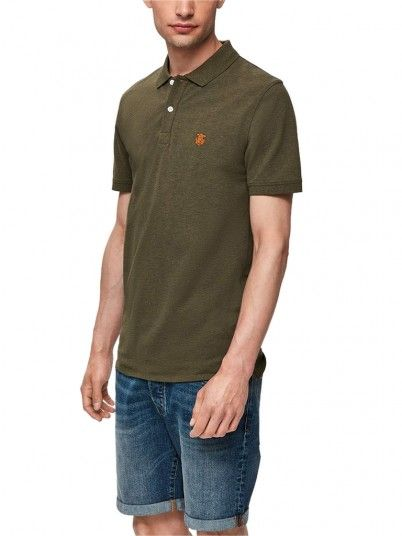 Polo Shirt Man Green Selected