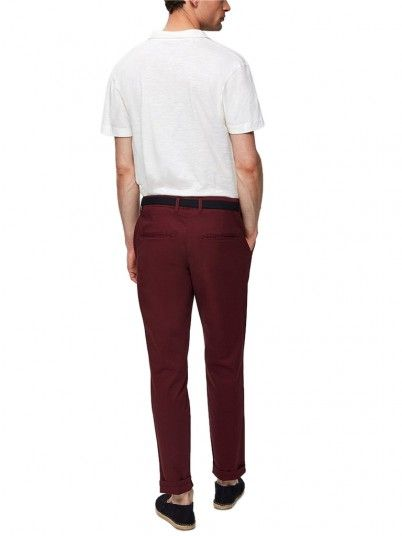 Pantalon Homme Bordeaux Selected