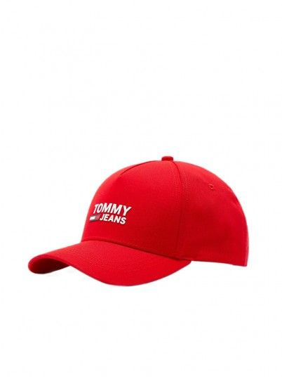 Hat Man Logo Red Tommy Jeans